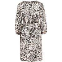 Maternity Pink Leopard Print Wrap Dress New Look