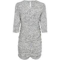 Petite White Spot Print Ruched Mini Dress New Look