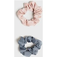 3 Pack Pale Pink Mixed Scrunchies New Look