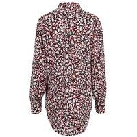 Pink Abstract Print Long Shirt New Look
