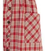 Red Check Button Front Sundress New Look