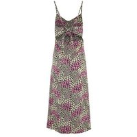 Purple Daisy Tie Back Maxi Dress New Look