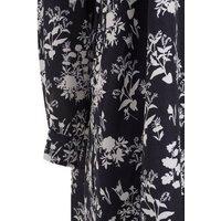 Black Floral Dip Hem Shirt Dress New Look