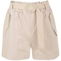 Pink Vanilla Stone High Belted Waist Shorts New Look