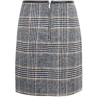 Black Brushed Check Mini Skirt New Look