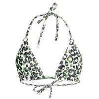 Wolf & Whistle White Leopard Print Triangle Bikini Top New Look