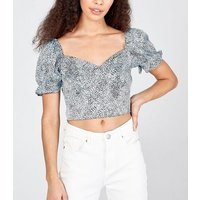 Pink Vanilla Pale Blue Abstract Spot Bustier Top New Look