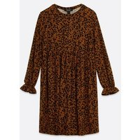 Maternity Rust Floral Soft Touch Smock Dress New Look