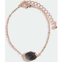 Dark Grey Faux Semi Precious Stone Bracelet New Look