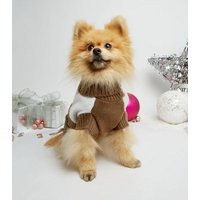 Brown Christmas Pudding Dog Jumper New Look