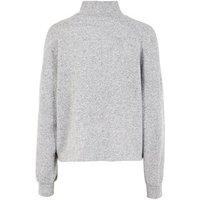 Pale Grey Brushed Fine Knit High Neck Jumper New Look