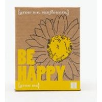 Pale Yellow Be Happy Grow Me Sunflower Kit New Look