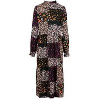 Black-Patchwork-Floral-Tie-Neck-Midi-Dress-New-Look