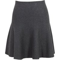 Grey Marl Mini Flippy Skirt New Look
