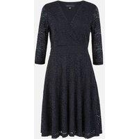 Mela Black Lace Wrap Dress New Look