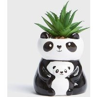 Black Double Panda Planter New Look