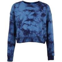 Girls Blue Tie Dye Crew Sweatshirt New Look