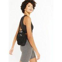 Black Square Pocket Front Cross Body Bag New Look Vegan