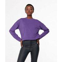 Purple-Crew-Neck-Crop-Sweatshirt-New-Look
