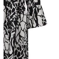 Mela White Mixed Animal Print Shirt Dress New Look