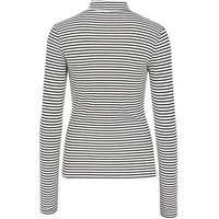 White Stripe Long Sleeve Roll Neck Top New Look