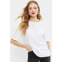 White Oversized Cotton T-Shirt New Look