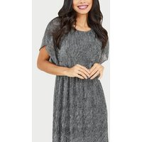 Mela Light Grey Woven Glitter Maxi Dress New Look