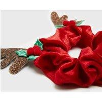 Red Velvet Christmas Antler Scrunchie New Look