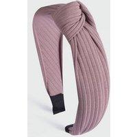 Mid Pink Ribbed Knot Headband New Look