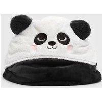 Black Fluffy Panda Blanket New Look