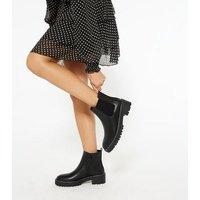 Black Chelsea Chunky Boots New Look Vegan