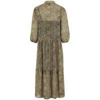 Brown Chiffon Leopard Print Smock Midi Dress New Look