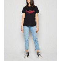 Black San Diego Slogan T-Shirt New Look