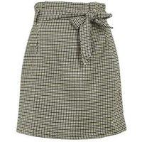 Black Check Tie High Waist Mini Skirt New Look