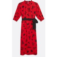 Red-Floral-Belted-Midi-Dress-New-Look