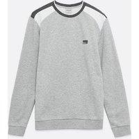 Jack & Jones Pale Grey Colour Block Logo Sweatshirt New Look