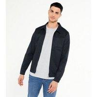 Men's Jack & Jones Navy Collared Jacket New Look