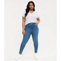 Curves Blue 'Lift & Shape' Yazmin Skinny Jeans New Look