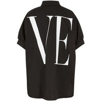 Cameo Rose Black Slogan Love Oversized Shirt New Look