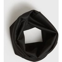 Black Plain Ribbed Snood New Look