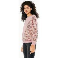 Blue Vanilla Mid Pink Sequin Leopard Sweatshirt New Look