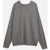 Curves Grey Knit Hoodie New Look