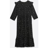 Urban Bliss Black Spot Midi Smock Dress New Look