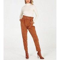 Blue Vanilla Tan Cord High Waist Trousers New Look