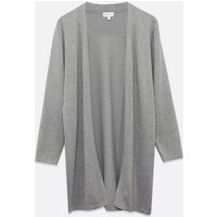 Blue Vanilla Grey Knit Lounge Cardigan New Look