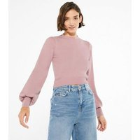 Pink-Vanilla-Pink-Puff-Sleeve-Jumper-New-Look