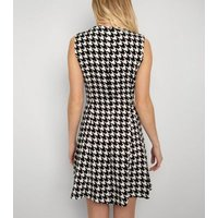 Cutie London Black Dogtooth Collared Dress New Look