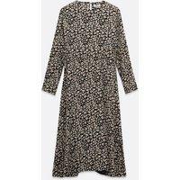 Urban Bliss Black Animal Print Tie Waist Smock Dress New Look