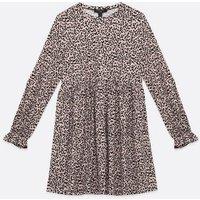 Tall Pink Leopard Print Smock Dress New Look