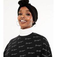 Black Unique Logo Sweatshirt New Look